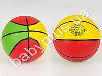 Мяч баскетбольный, размер 7, резина, 450г, 8 панелей, сетка, в кульке