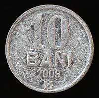 Монета Румынии 10 бани 2008 г.