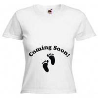 """Футболки для беременных """"Coming soon"""""""