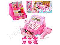 Кассовый аппарат, калькулятор, сканер, микрофон, продукты, корзина, звук, на бат-ке, в коробке