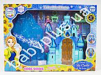 Замок Frozen, принцессы, муз, свет, мебель, фигурка, на бат(табл), в кор