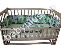 Комплект в кроватку 4 предмета Леопольд (простынь, пододеяльник, бортики 30см., наволочка)