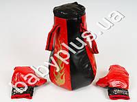 Боксерский набор, груша, 8 звуков, перчатки, на бат-ке, в сетке