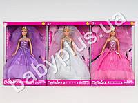Кукла DEFA на подставке, расческа, туфли, 3 цвета, в кор-ке