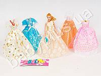Кукла с нарядом, платья, туфли, в кульке