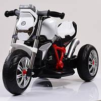 Детский мотоцикл на аккумуляторе H 720, три колеса, белый