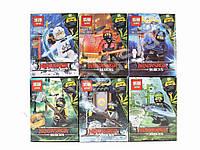 Конструктор Ninjago, фигурка, оружие, от 31 детали, в коробке, 12шт (4 вида) в дисплее (цена за 1 шт)