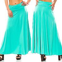 Женская  длинная юбка в складку. БАТАЛ, фото 1