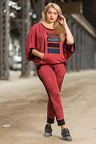 Спортивный костюм женский Totalfit CS-12 XXL Темно-розовый