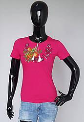 Вышиванка футболка орнамент с цветами