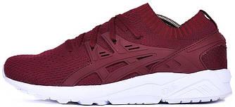 Мужские кроссовки Asics Tiger Gel-Kayano Trainer Knit (Асикс) бордово-белые