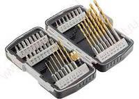 Набор бит и свёрел,магнитный адаптер,CrV, в пласт. боксе,40шт.//MATRIX