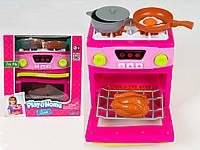 Бытовая техника, плита 18см, звук, свет, посуда, продукты, на бат-ке, в кор-ке