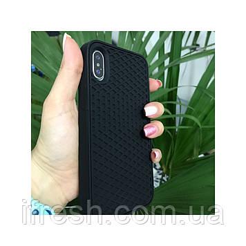 Чехол силиконовый подошва VANS для iPhone X/XS, black