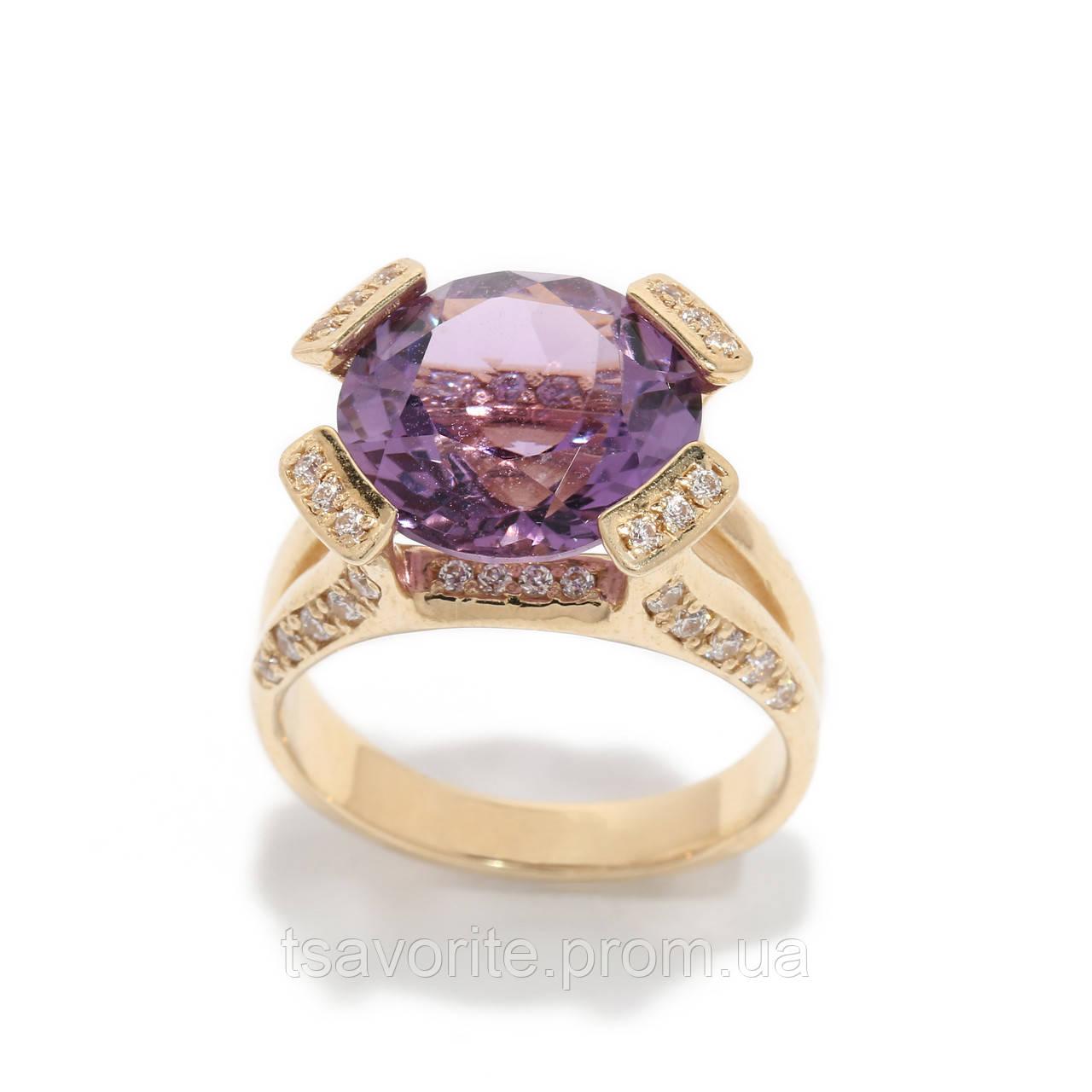Золотое кольцо с аметистом 2280153