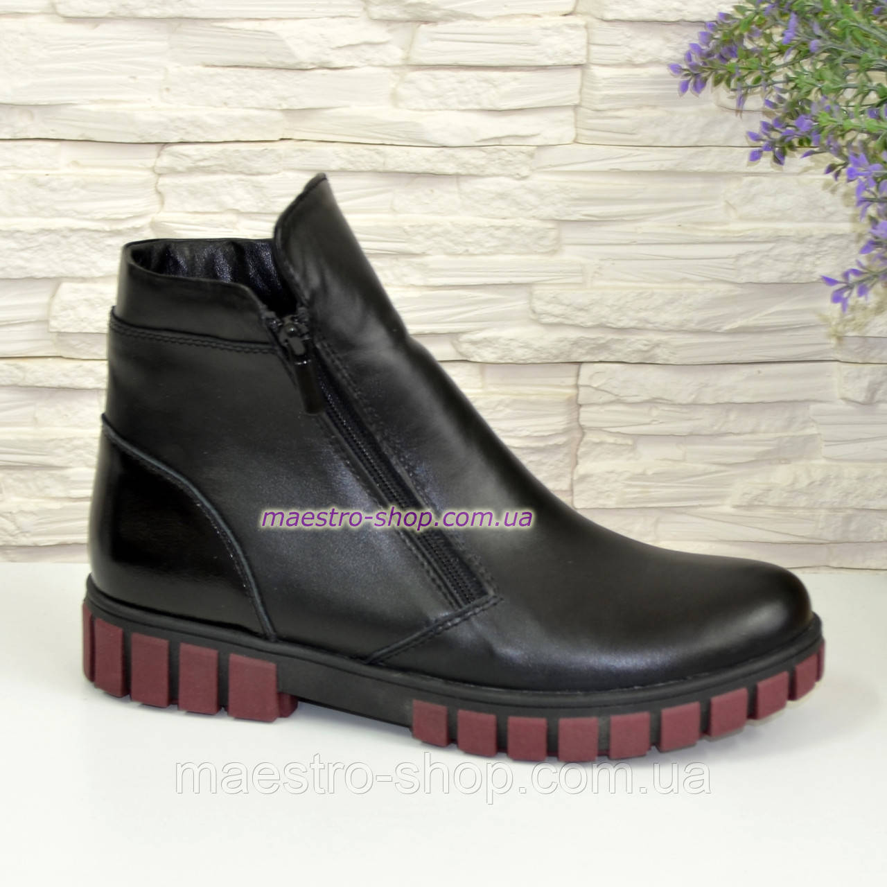 Ботинки для девочки на утолщённой подошве, цвет черный