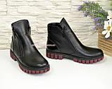 Ботинки для девочки на утолщённой подошве, цвет черный, фото 2