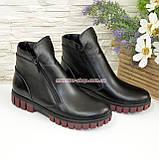 Ботинки для девочки на утолщённой подошве, цвет черный, фото 4