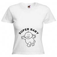 """Футболки для беременных """"Super baby"""""""