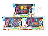 Брызгалка Little Pony, для купания, лошадка 2шт, от 6см, аксессуары, 3 вида, в коробке