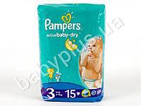 """Подгузники Pampers """"Active Baby-Dry Midi"""" (4-9 кг) 15шт"""