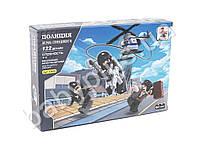 Конструктор AUSINI, полиция, вертолет, фигурки, 122 детали, в коробке