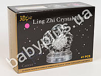 Пазлы 3D Кристальные Рак, 2 цвета, 41дет, в кор-ке