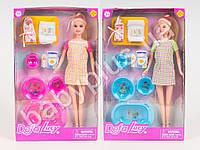 Кукла DEFA беременная, 29см, пупс, ванна, горшок, аксессуары, 2 вида, в коробке