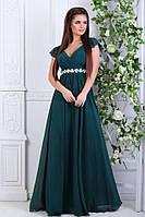 Женское праздничное платье в пол со стразами