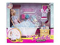 Кукла 30см, ванна 24см, наряд, аксессуары, в кор-ке