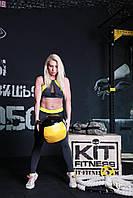 Женский спортивный топик Totalfit TD25 M Серый с голубым