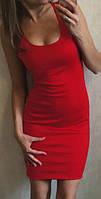 """Платье майка """"Jersey"""" красный, 46-48"""