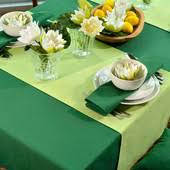 Скатерть для стола 190х140см, однотонная Зеленая