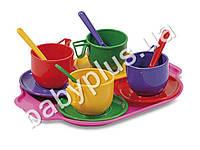 Набор посуды с подносом (13 предметов)