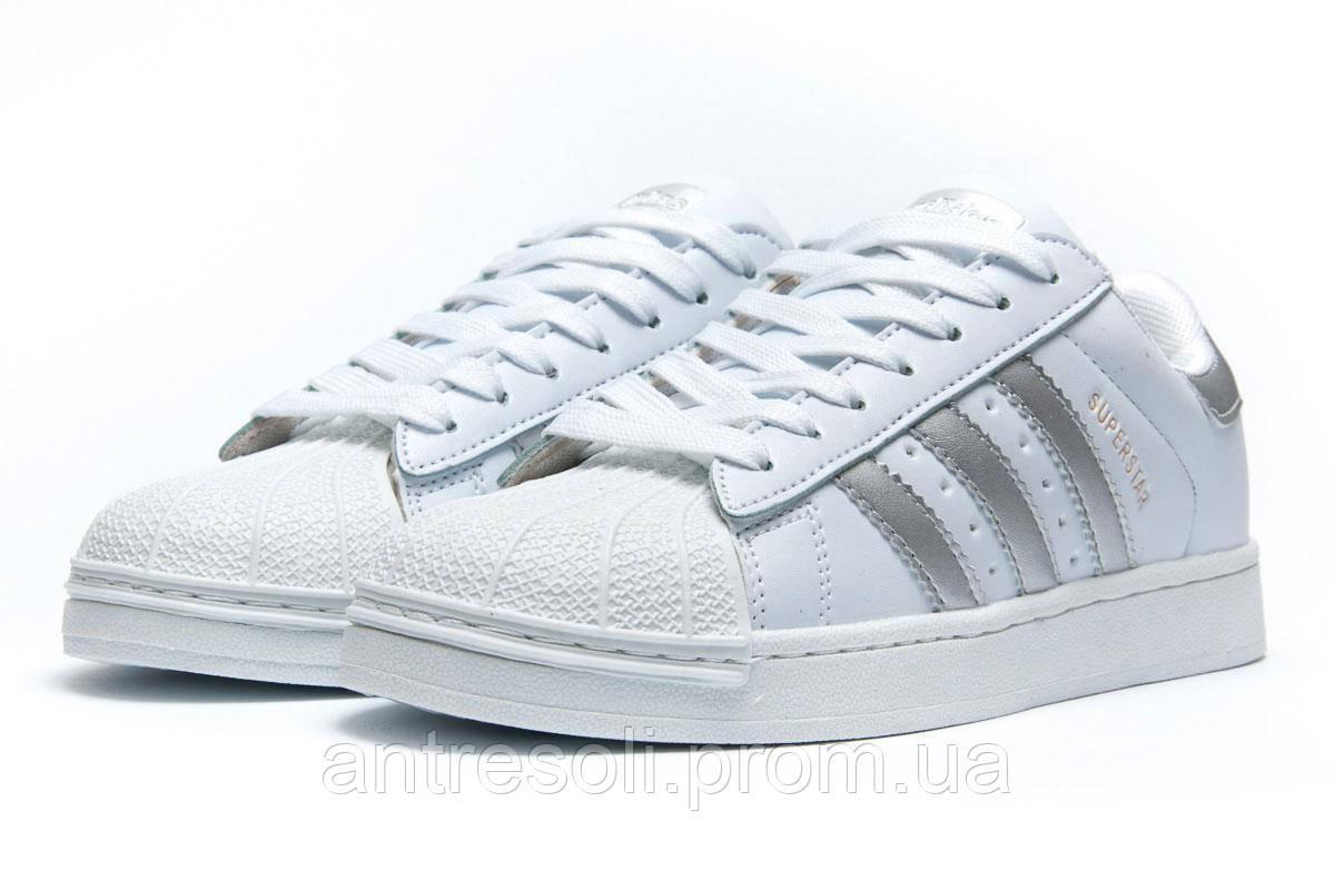 Кроссовки женские Adidas Superstar, белые (1056-4),  [   37  ]