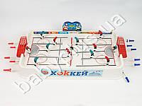 Joy Toy Хоккей на штангах, размер поля 69-40см, 14 фигурок, 2 шайбы, в кор-ке