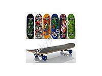 Скейт 70,5-20см, алюм.подвеска, колеса ПВХ, 7 слоев, 6 видов 608Z, разобр,доска в кульке