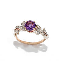Золотое кольцо с аметистом 2280328