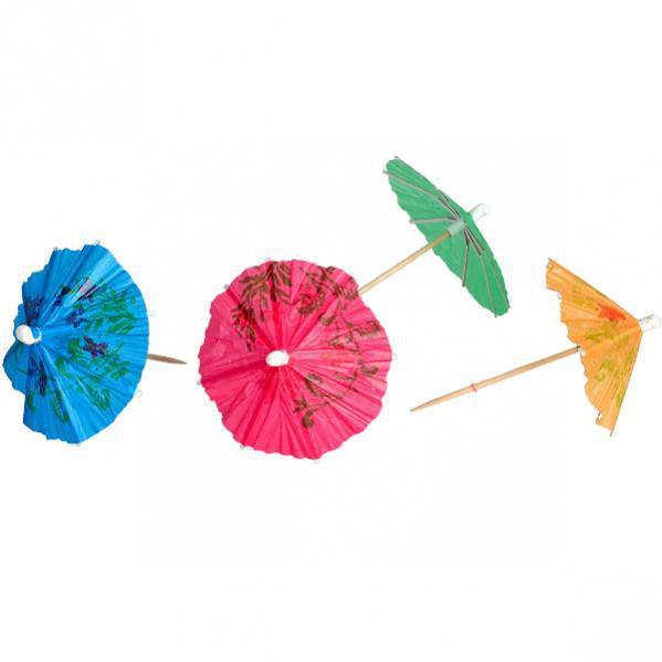 Зонтик коктейльный маленький, 10 штук
