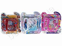 Телефон 12см, музыка, звук(англ), свет, 3 вида ( Спайдермен, My Little Pony, Frozen), на бат-ке, на листе