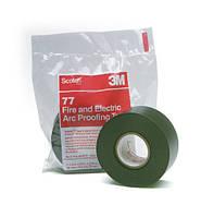 3M Scotch 77 - самозатухающая лента для защиты оболочки кабеля от огня  и дугового разряда, рулон 38 мм х 6 м