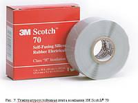 3M Scotch 70 - самослипающаяся силиконовая резиновая изоляционная лента, рулон 25 мм х 9 м