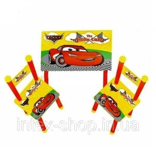 Детский столик с 2-мя стульчиками «Тачки»