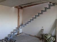 Лестница хребтовая из профильной трубы, фото 1