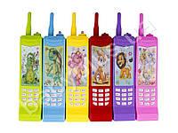 Телефон 19,5см, муз, звук, свет, 3 вида, на бат-ке, в кульке