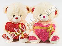 Мягкая игрушка Медведь с сердцем, муз (поет От улыбки станет всем светлей)