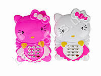 Телефон Hello Kitty, музыка, звук(англ), 2 цвета, на бат-ке, в кульке