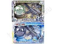 Набор полицейского, автомат - водяные и мягкие пули, каска, 2 вида (1 вид - военный), в коробке
