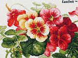 Набір для вишивки хрестиком ЛанСвит «Настурції» А-003, фото 5