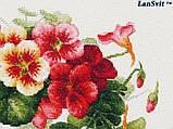 Набір для вишивки хрестиком ЛанСвит «Настурції» А-003, фото 6